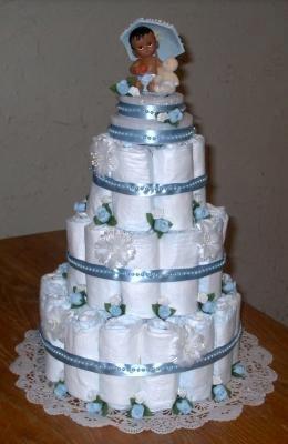 Blue Baby Boy Diaper Cake 21317979